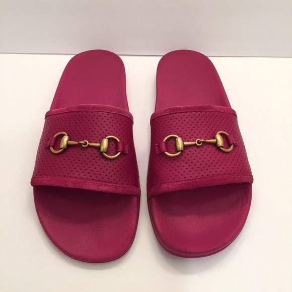 b17bac19f Gucci Women's Horsebit Leather Slides Sandals. M_5b754884c2e9fe61f982acf6